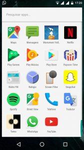 Visão da Tela do Android