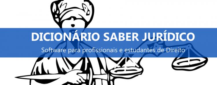 Software Dicionário Jurídico – Saber Jurídico