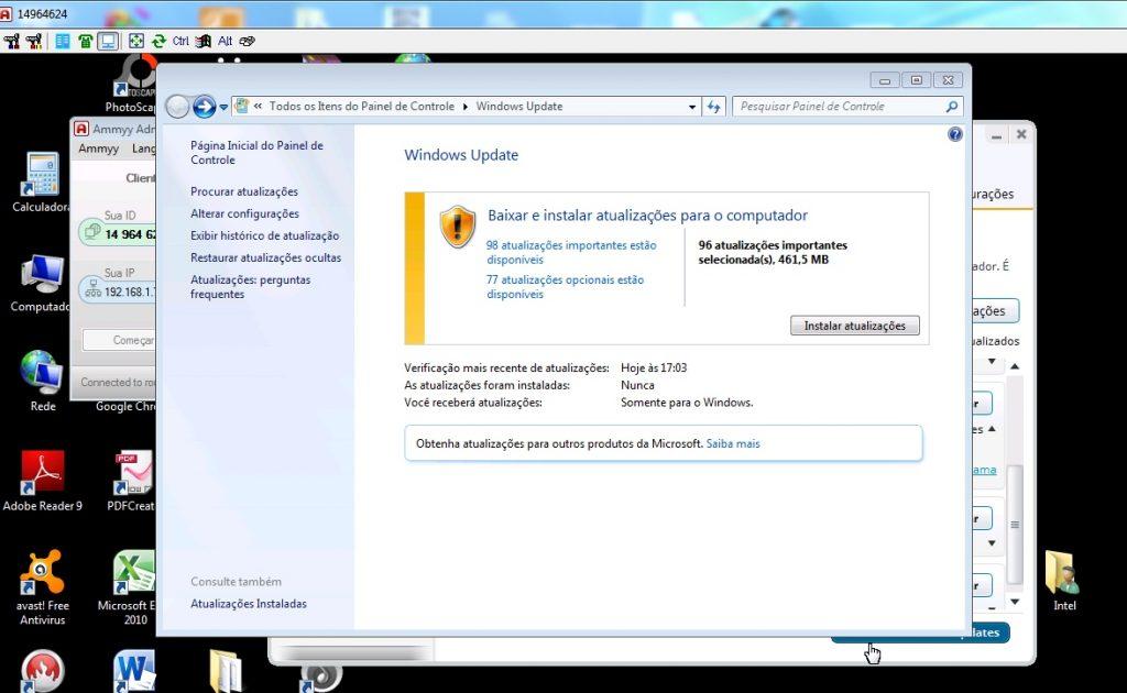 Atualizações de Segurança do Windows
